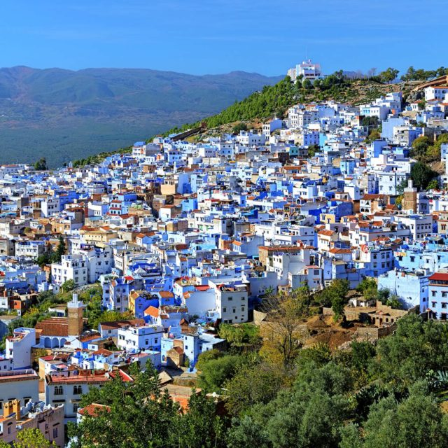 View of Chefchaouen in Marocco